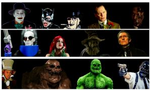 Batman villains by StevenEly