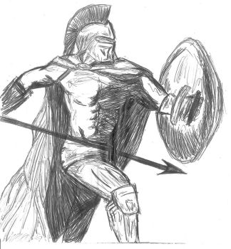 300 Spartan Warrior Sketch by HeaTx-Tm