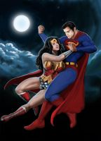 Superman Loves Wonder Woman Colors by Cadre
