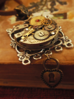 Steampunk Necklace, Revamped by GildedGears