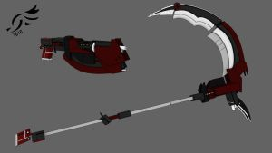 'Cinders and Ashes' -RWBY OC Weapon by DenalCC1010