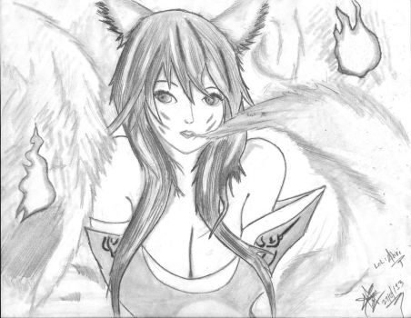 LoL - Ahri by Jumper02