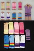 My Little Pony FiM Mane Six Armwarmers by RebelATS