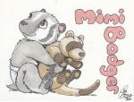 Conbadge: Mimi Badger by Kanthara