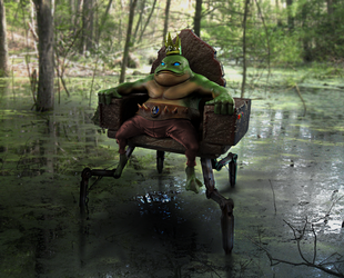 KING FROG in the Swamp by nemesis222