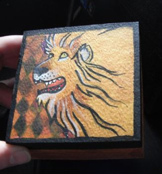 Circus Lion Box by CarrieExMachina