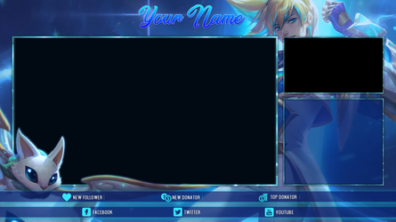 [FREE] Star Guardian Ezreal - Twitch Overlay by Psychomilla