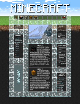 MineCraft Web Design v2 by Death-GFx