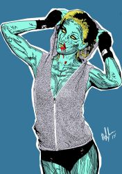 Bar Paly as a pinup zombie Vol2-color by PeterVsAll