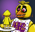 Chica meets Six  by tehcreechibi