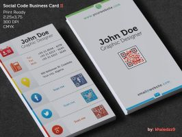 Social Code Business Card II by khaledzz9