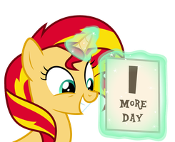 Sunset Shimmer is Excited for Rainbow Rocks by MoHawgo