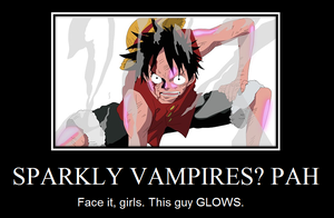 Luffy Motivational Poster by Toasty-Tabby