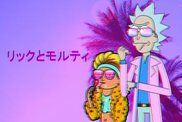 Rick and Morty (Vaporwave) by Khallidius