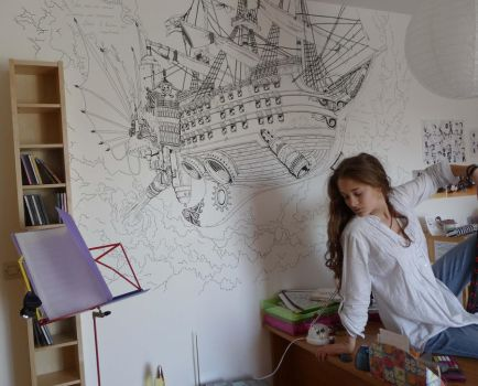 Pirate ship flying in my room by LucioL-2zR