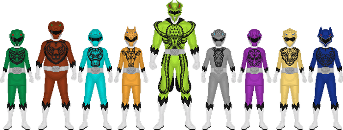Additional Zyuohgers by Taiko554