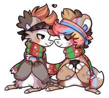 Xmas Gift - for Leni and Momo by Pikachumaster