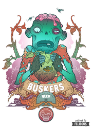 Zombeer t-shirt by Felideus