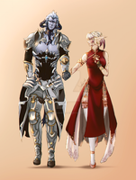 FFXIV Couple [Commission] by AliceWisdom