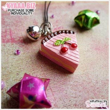 Charm - Cell Phone - Cherry Cake by shiricki