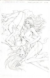 EMMA FROST AND THE PHOENIX by alvinlee