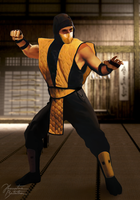Mortal Kombat: Scorpion by JhonatasBatalha