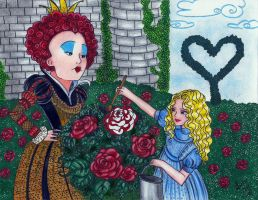 Painting roses_color by Lorelei2323