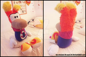 Commission: Large Rayman Plush Doll by Sarasaland-Dragon