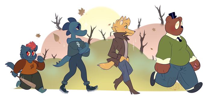 night in the woods [ background ] by dongoverlord