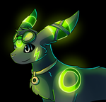 Neon Umbreon by Petuniabubbles