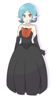 Pokemon - Shiny Mega Gardevoir Gijinka by chocomiru02