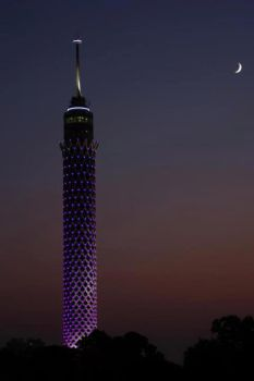 cairo tower in ramadan at night by heshamahmed