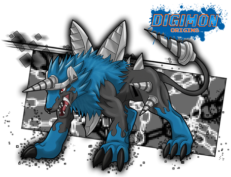Blue Dorulumon_ by EmeraldSora