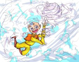 Goofy Aang by zoemoss