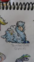 OC alpaca: Thunder Fluff by QueenAnneka
