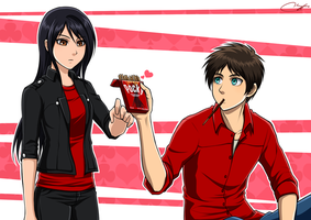 Want Some Pocky? (Eren x Veena AU) by Vhenyfire