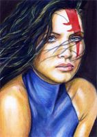 Psylocke Sketch Card by veripwolf