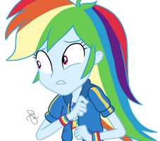 MLP EG Vector - Worried Rainbow Dash by ilaria122