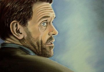 Hugh Laurie, chalk shoulder by tripperfunster
