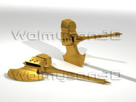 Gold Axe Two Hannd by wolmyson
