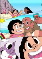 Steven Universe selfies (colored) by nic011