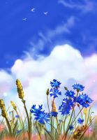 Bright Blue by Mellodee