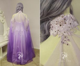 Lavender Elven Gown (back view) by Firefly-Path