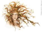 The red hair dryad by delfee