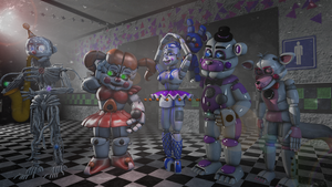 (SFM) We are number one and funtime foxy by TheFnafLich23