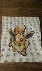 Eevee Cross stitch by SasukePrismaColor