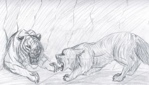 Father Wolf vs. Shere Khan by imaginativegenius099