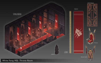 RWBY: White Fang Throne Room by fang