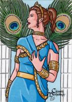 Hera Sketch Card - Classic Mythology by ElainePerna