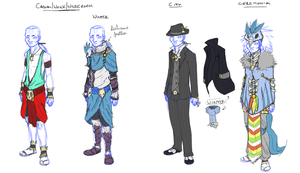 Guillaume Alternate Outfits by ClockworkShrew